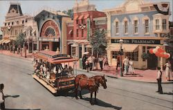 Main Street Disneyland, Upjohn 1880's Pharmacy Postcard