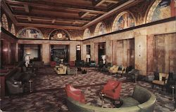 New Lobby, Congress Hotel Postcard