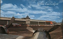 Willow Run Airport Postcard