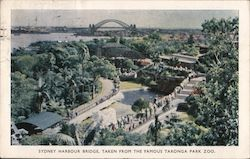 Sydney Harbour Bridge, Taken from the Famous Taronga Park Zoo Postcard