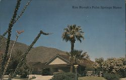 Kim Novak's Home, a Picturesque Desert Retreat Postcard