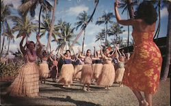 Hula Lessons at Waikiki Postcard