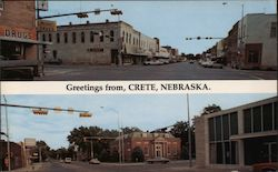 Greetings from, Crete, Nebraksa Postcard