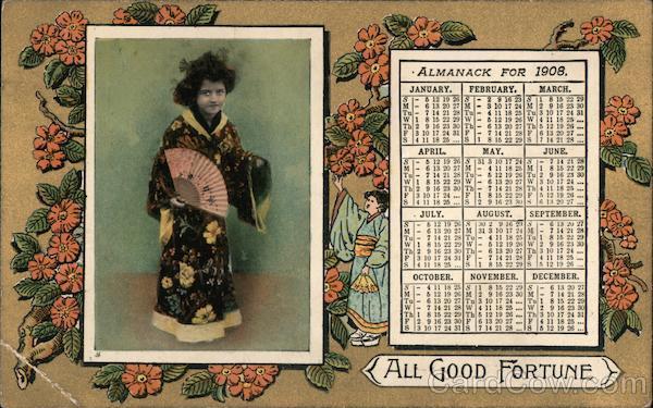 All Good Fortune 1908 Calendar Girls