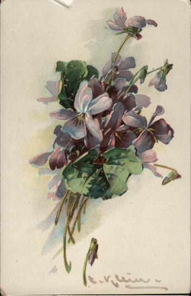 Small Bouquet Of Lilacs, Artistic Representation C. Klein