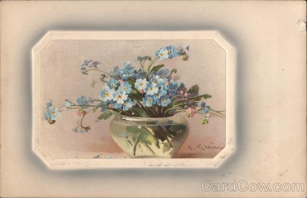 Vase full of blue forget me nots C. Klein Flowers