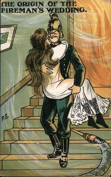 THE ORIGIN OF THE FIREMAN'S WEDDING F.S. Comic, Funny