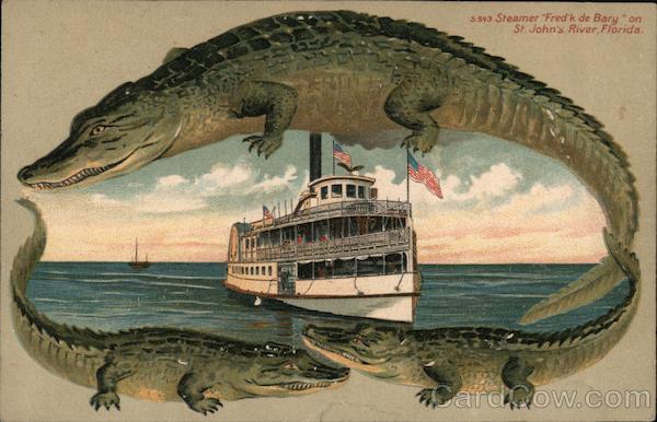 Alligator Border S543 Steamer Fred'k de Barg on St. John's River Florida