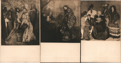 Set of 3: Ignacio Zuloaga Paintings Postcard