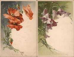 Set of 2: Klein Flowers Postcard