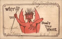 Why the Devil Don't You Write Postcard