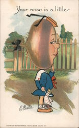 Your Nose Is A Little - Turnip Girl Cartoon Postcard