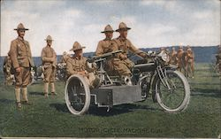 MOTOR CYCLE MACHINE GUN Postcard