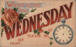 Want to see you Wednesday Postcard
