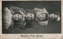 Machan's Piano Quartet - The youngest virtuosos in the world Postcard