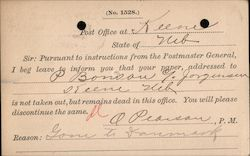 Cancellation of paper by Post Office Notification to Publisher Postcard