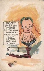 Don't Bore Your Friends By Talking Forever About Your Baby. Infants Are Not Scarce Postcard