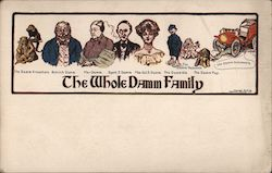 The Whole Damm Family Postcard