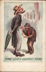 Time goes quickly here - pickpocket Postcard
