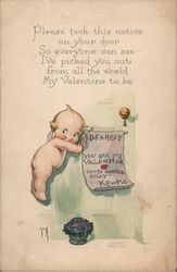 Dearest you are my Valentine yours respectfully Kewpie Postcard