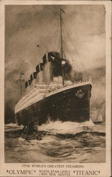 "Rare Pre-Sinking Ad ""Olympic"" White Star Line 1 Win Sea Giants ""Titanic"""