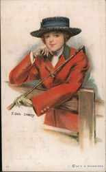 Woman with a Riding Crop Postcard