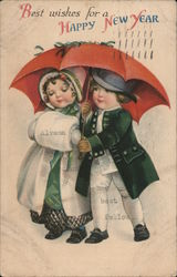 Best Wishes For a Happy New Year Postcard