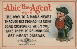 Heart Disease - Abie the Agent Postcard