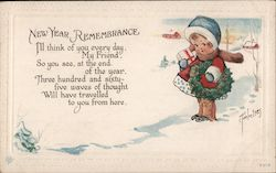 New Year Remembrance Postcard