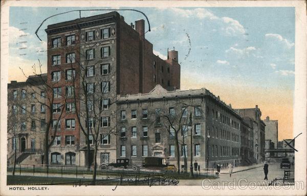 hotel holley new york city ny postcard