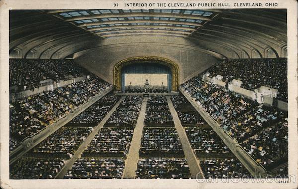 Interior of the Cleveland Public Hall Ohio