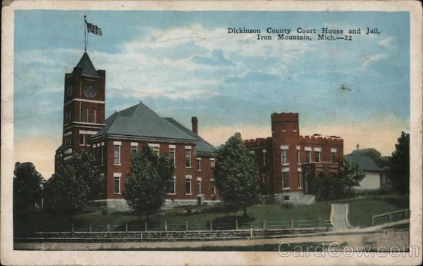 Dickinson County Court House and Jail Iron Mountain Michigan