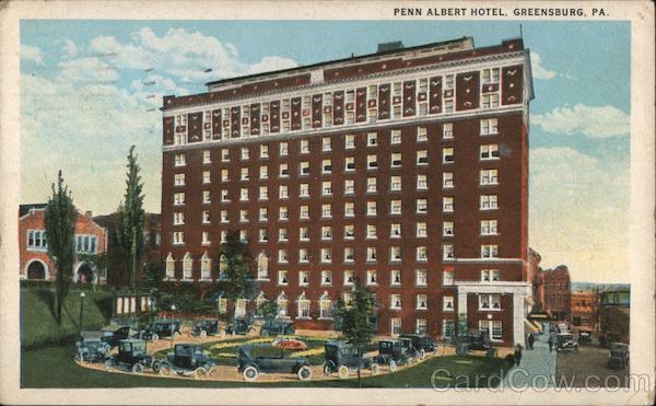 Penn Albert Hotel Greensburg Pennsylvania C.T. American Art
