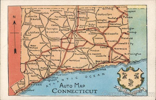 Auto Map of Connecticut