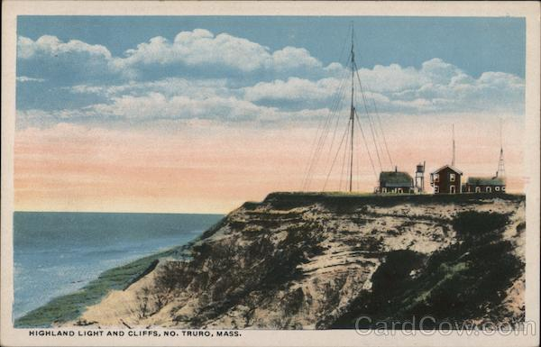 Highland Light and Cliffs, Marconi Wireless Station North Truro Massachusetts