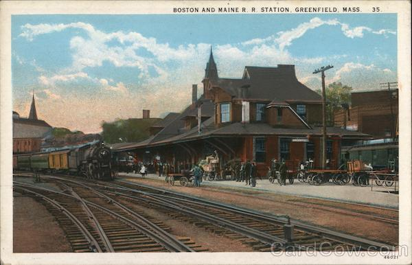 Boston and Maine R. R. Station Greenfield Massachusetts