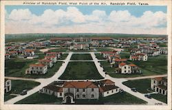 Aireview of Randolph Field, West Point of the Air Postcard