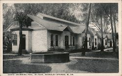 Gents' Swimming Pool, in Park Postcard