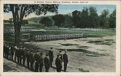 A review, Culver Military Academy Postcard