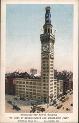 Bromo-Seltzer Tower Building Postcard