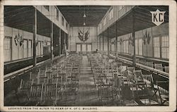 Looking From the Alter to Rear Of K. Of C. Building Knights of Columbus Postcard