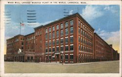 Wood Mill, Largest Worsted Plant in the World Postcard