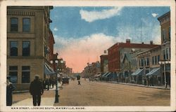 Main Street, Looking South Postcard