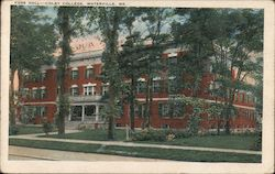 Foss Hall-Colby College Postcard