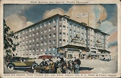 "Hotel New England, South Carolina Ave, near beach - Finest moderate rate hotel in ""world's playground"" Postcard"