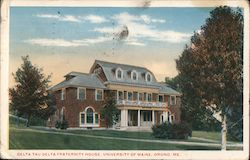 Delta Tau Delta Fraternity House, University of Maine Postcard