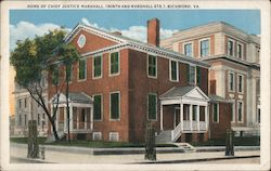 Home of Chief Justice Marshall (Ninth and Marshall Sts.) Postcard
