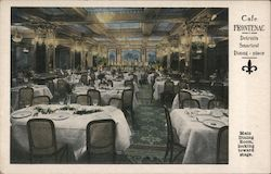 Cafe Frontenac - Detroits smartest dining place - Main dining room , looking toward stage Postcard