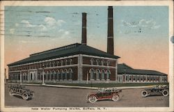 New Water Pumping Works Postcard