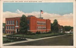 Lincoln School and Center Postcard